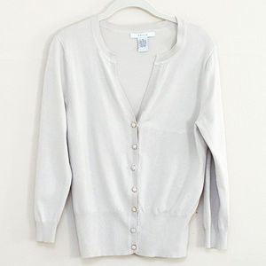 Grace Light Grey 3/4 Sleeve Sweater M